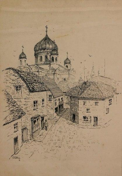 Храм Христа Спасителя на рисунке Ричарда Килби