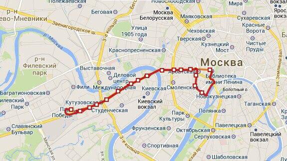 Достопримечательности Москвы из окна троллейбуса