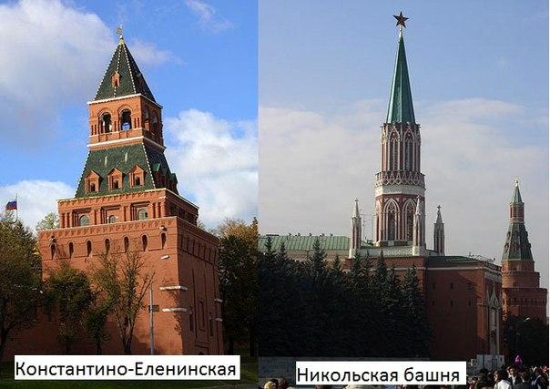 О башнях Московского Кремля